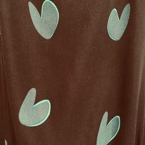 LOFT Dresses - Ann Taylor LOFT black/green heart sleeveless dress